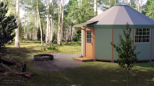 Freedom Yurt Cabin is affordable and energy efficient