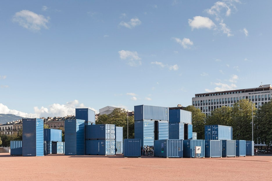 Steelhenge, made of shipping containers
