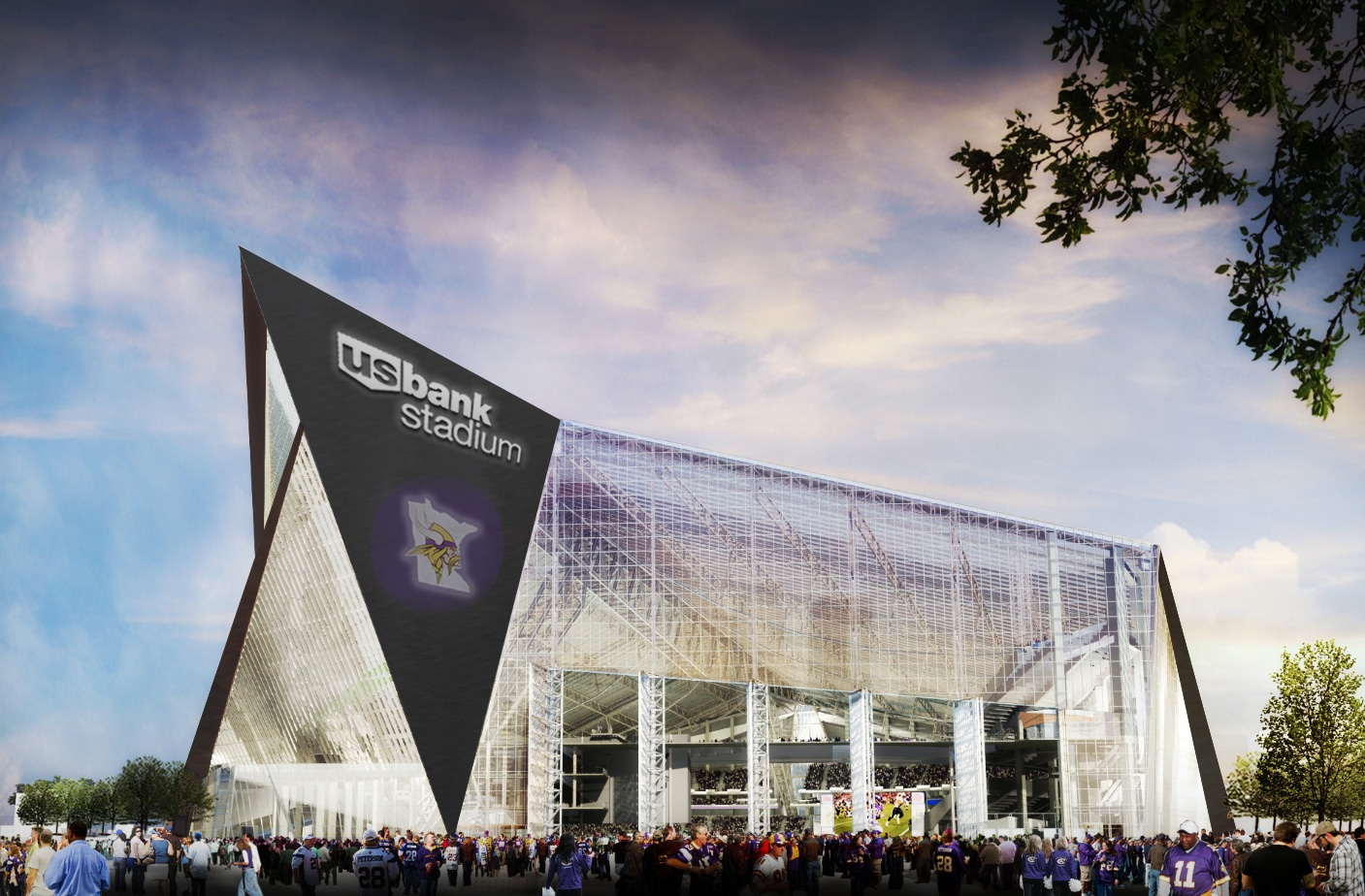 Etfe Football Stadium Will Soon Be Minneapolis Showcase