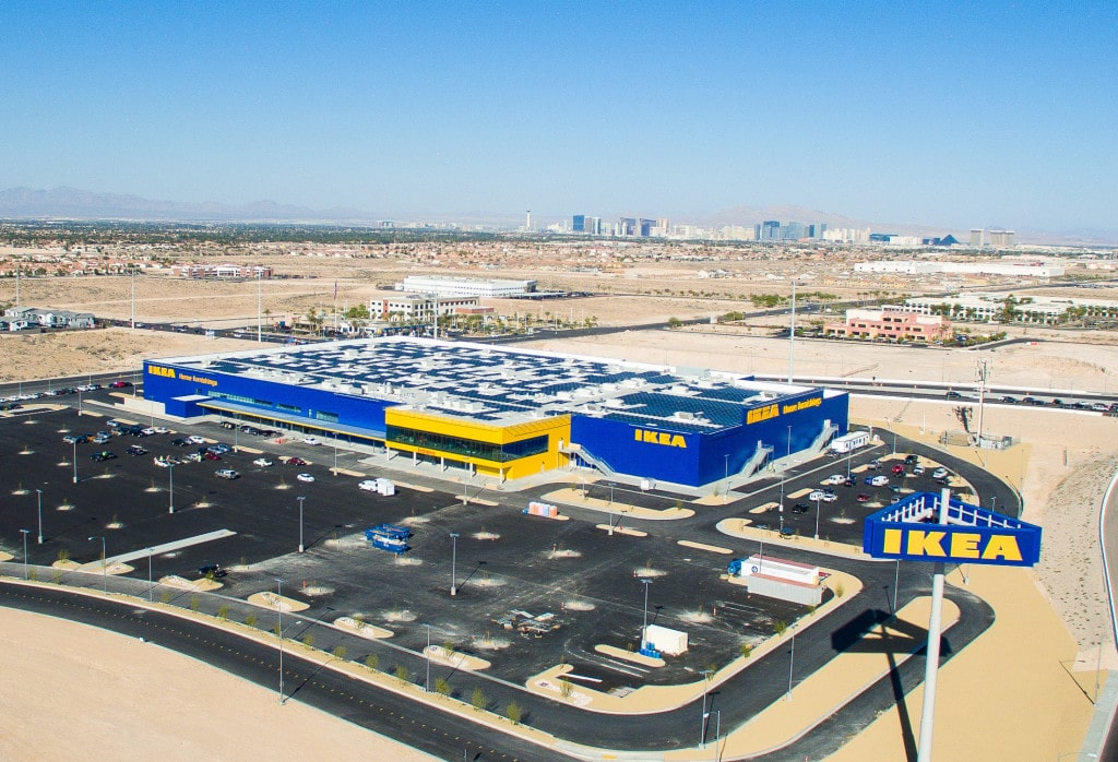 IKEA boast largest retail solar array in Nevada