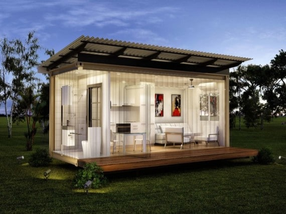 a shipping container home with solar power the jagpod. Black Bedroom Furniture Sets. Home Design Ideas