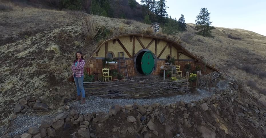 Hobbit House hillside