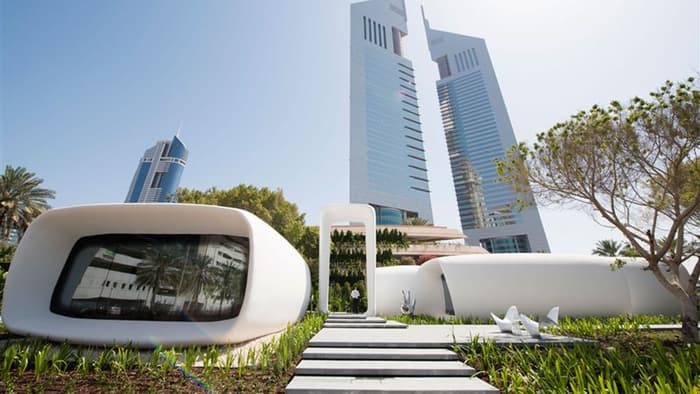 First 3D-printed office building is in Dubai
