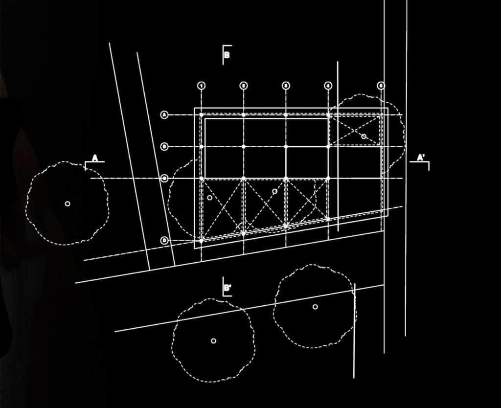 Ground floor plan for SS35 solar bus shelter