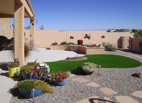 Artificial turf comes on a roll, so circles and curves cost more - Photo by WaterQuest Inc