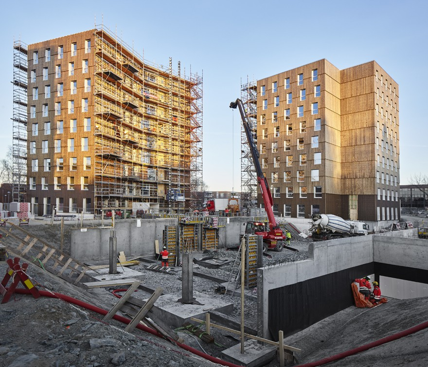Trondheim Student Village in the Building Stage. Credit: MDH Arkitekter