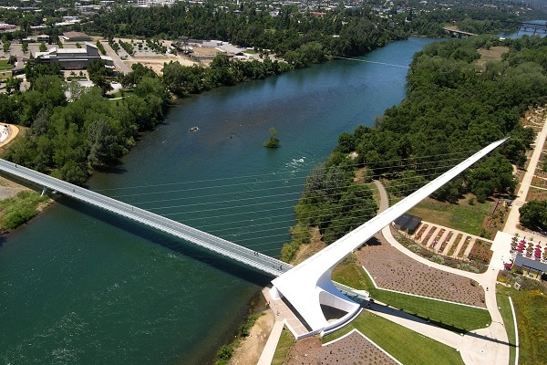 Calatrava Sundial Bridge Redding California. Credit: VisitRedding.com