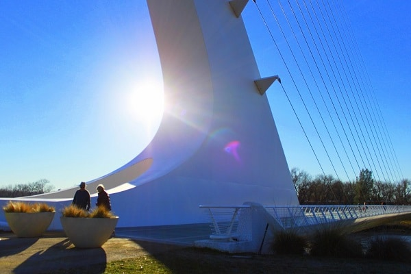 base of Calatrava Sundial Bridge. Credit: visitredding.com