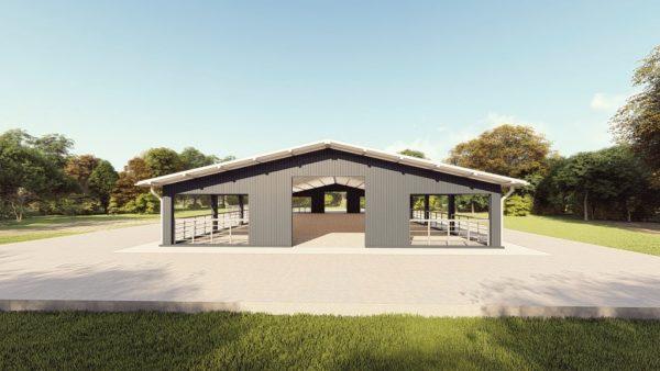 Agricultural metal building rendering 1