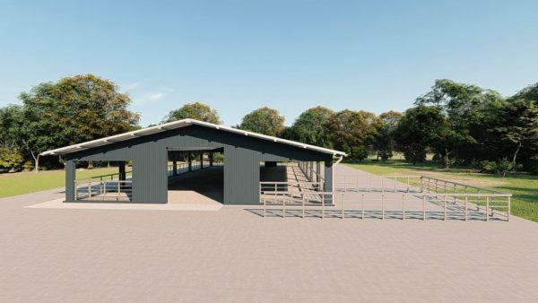 Agricultural metal building rendering 4