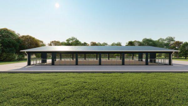 Agricultural metal building rendering 5