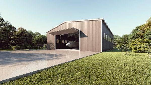 Aircraft hangars 100x125 hangar metal building rendering 1