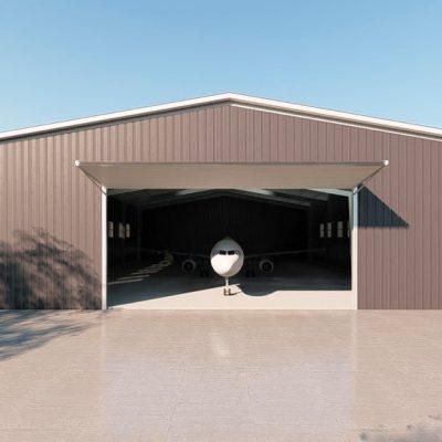 Aircraft hangars 100x125 hangar metal building rendering 2