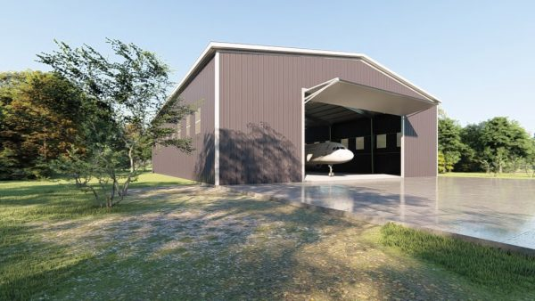 Aircraft hangars 100x125 hangar metal building rendering 4