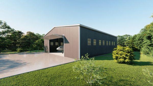 Aircraft hangars 100x125 hangar metal building rendering 5