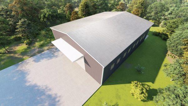 Aircraft hangars 100x125 hangar metal building rendering 6
