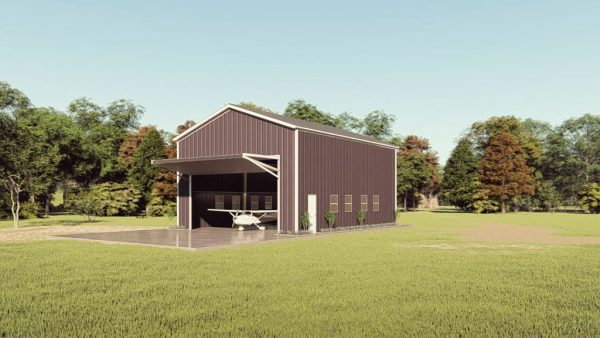 Aircraft hangars 30x40 hangar metal building rendering 1