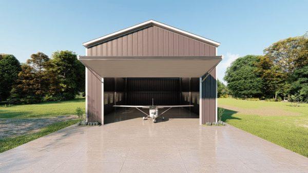 Aircraft hangars 30x40 hangar metal building rendering 2