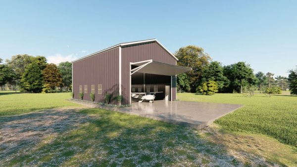 Aircraft hangars 30x40 hangar metal building rendering 4