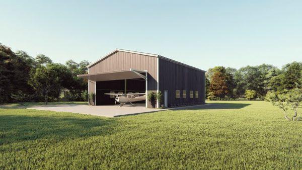 Aircraft hangars 50x60 hangar metal building rendering 1