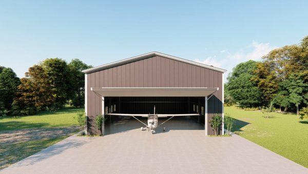 Aircraft hangars 50x60 hangar metal building rendering 2