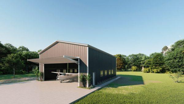 Aircraft hangars 50x60 hangar metal building rendering 3 1