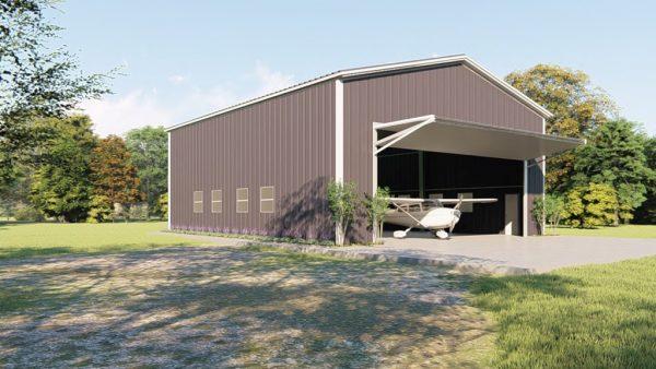 Aircraft hangars 50x60 hangar metal building rendering 4 1