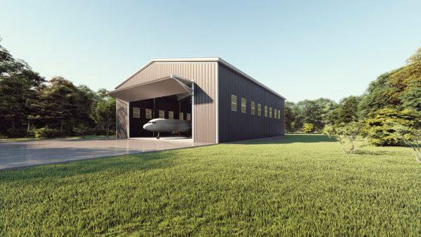 Aircraft hangars 80x100 hangar metal building rendering 1