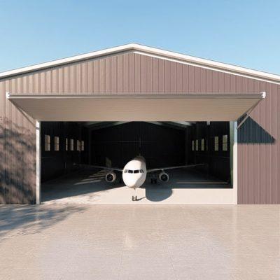 Aircraft hangars 80x100 hangar metal building rendering 2