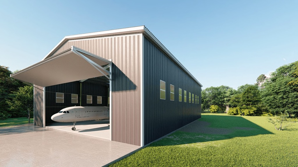 80x100 Airplane Hangar Kit Get A Price For Your Prefab Steel Building