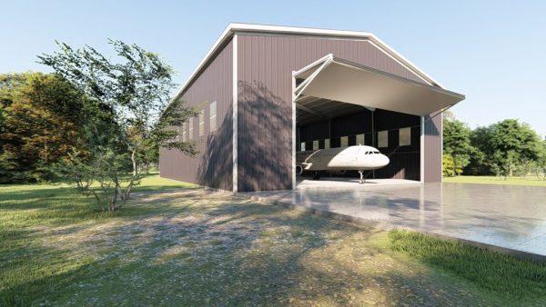 Aircraft hangars 80x100 hangar metal building rendering 4