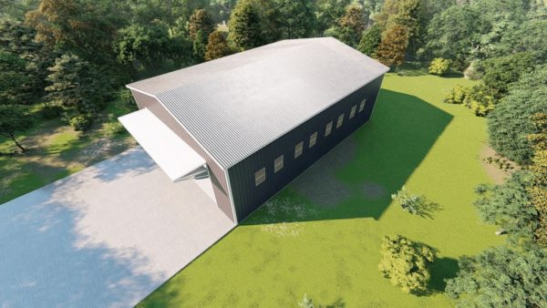 Aircraft hangars 80x100 hangar metal building rendering 6