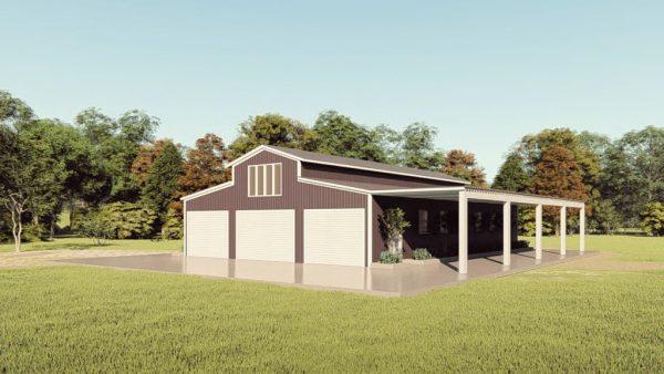 Barndominiums 40x60 barndominium barndomin metal building rendering 1