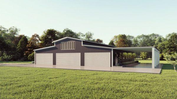 Barndominiums 60x60 barndominium metal building rendering 1 1