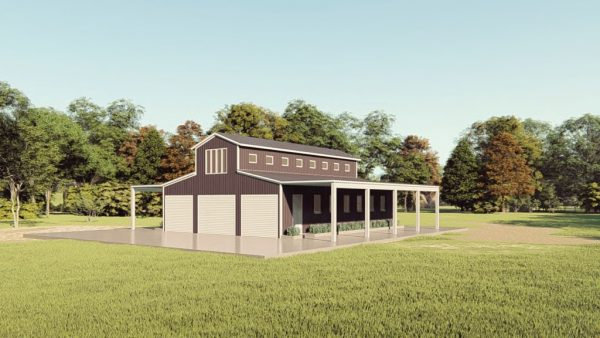 Barns 30x40 barn barns metal building rendering 1