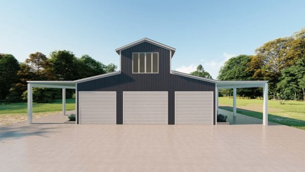 Barns 30x40 barn barns metal building rendering 2