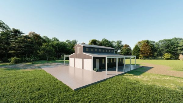Barns 30x40 barn barns metal building rendering 3