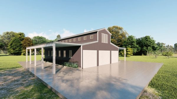 Barns 30x40 barn barns metal building rendering 4