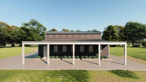 Barns 30x40 barn barns metal building rendering 5