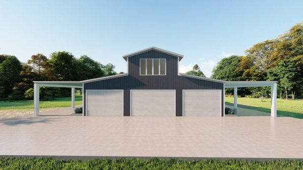 Barns 40x60 barn metal building rendering 2