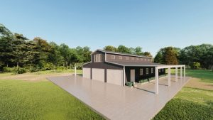 Barns 40x60 barn metal building rendering 3