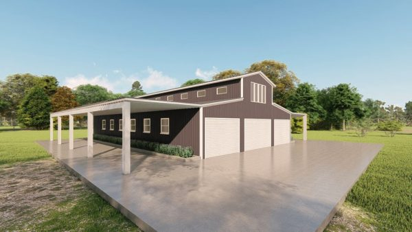 Barns 40x60 barn metal building rendering 4