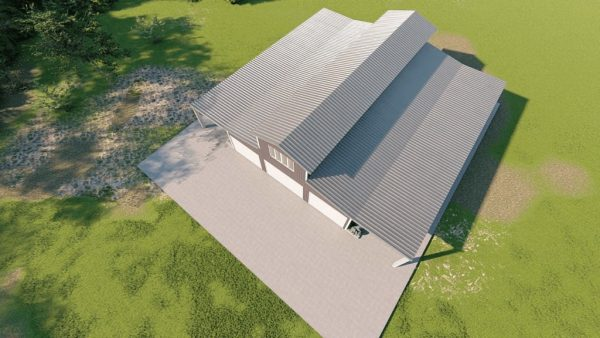 Barns 40x60 barn metal building rendering 6