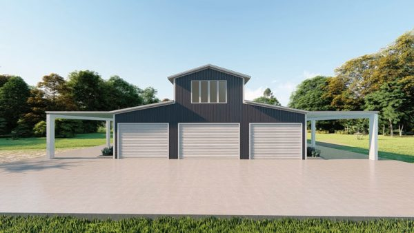 Barns 40x75 barn barns metal building rendering 2