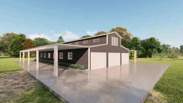 Barns 40x75 barn barns metal building rendering 4