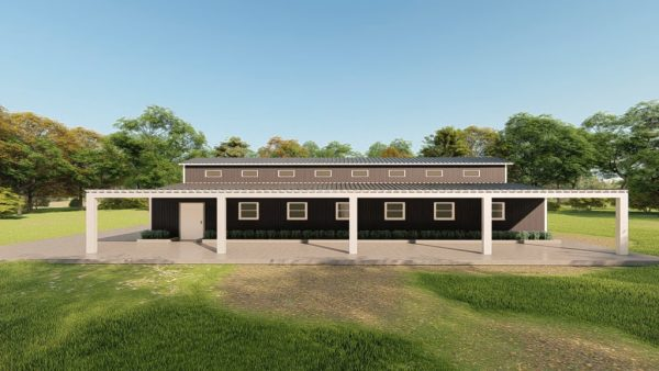 Barns 40x75 barn barns metal building rendering 5