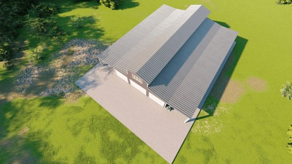 Barns 40x75 barn barns metal building rendering 6