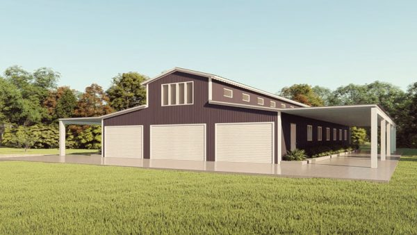 Barns 60x100 barn metal building rendering 1 1