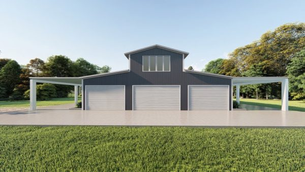 Barns 60x100 barn metal building rendering 2