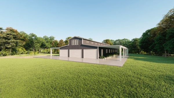 Barns 60x100 barn metal building rendering 3 1